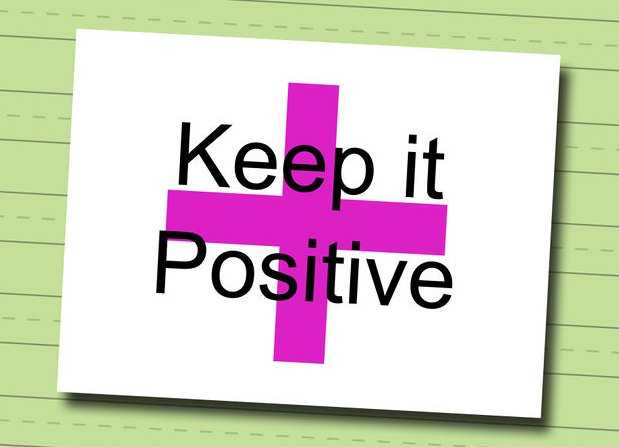 keep your profile positive