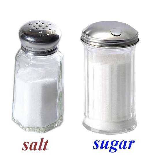 sugar vs salt