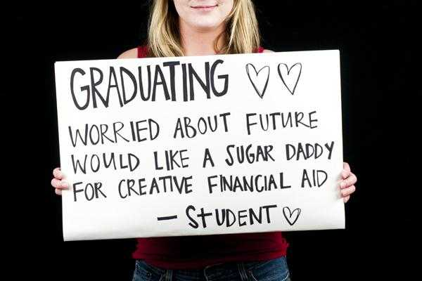 student looking for a sugar daddy for creative financial aid