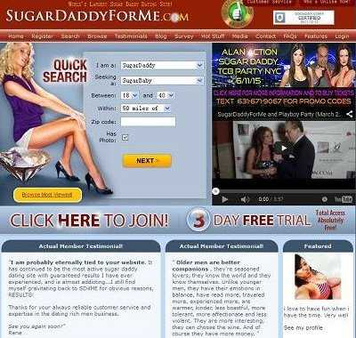 Online dating sugar daddy